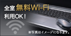 Free Wi-Fi available in all rooms!